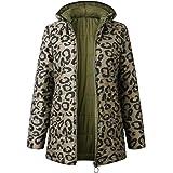Macondoo Womens Hooded Jacket Zip Up Cotton-Padded Winter Reversible Parkas Coats