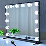 Hollywood Lighted Vanity Mirror,Makeup Mirror with Lights,Tabltop or Wall Mount Cosmetic Beauty Mirror with Dimmer Bulbs,Touc