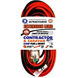 UR25010C ULTRACHARGE 10M 15A Heavy Duty Contractor Extension Lead 15A Plug & Socket, Extra Heavy Duty Flexible Lead