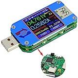 USB Tester UM25C USB Meter Tester,Voltage Current Bluetooth Battery Power Charger Voltmeter Ammeter Multimeter Tester, 1.44 I