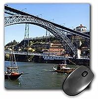 3drose LLC 8x 8x 0.25インチLuisブリッジPonte D Luisドウロ川、ストリートシーンからポルトマウスパッド( MP _ 10543_ 1)