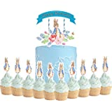 Party Supplies for Peter Rabbit Cake Topper Cupcake Toppers Theme Birthday Supplies Favors