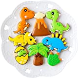 Dinosaur Cookie Cutters with Matching Cookie Stencils -Set of 16-8Pcs Cookie Cutter and 8Pcs Stencils, Include Stegosaurus, T