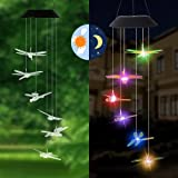Solar String Lights,LED Solar Wind Chimes,Dragonfly Solar Lights Outdoor Indoor,Waterproof Solar Wind Chimes for Outdoor Gard