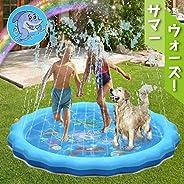 噴水マット こども用 噴水おもちゃ 水遊び 子供用プール ビニールプール 親子遊び 家族用 芝生遊び 大型 170CM