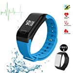 Fitness Tracker Fitness Watch Smart Bracelet with Heart Rate Moniter Blood Pressure Blood Oxygen Pdeometer Sleep...