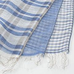 Linen Rayon Cotton Scarf 1351274: Blue