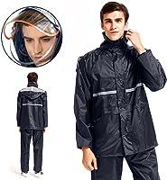 warmq 雨衣套装雨衣2件套吸湿透气雨衣可拆卸式合羽双层结构帽子高品质雨具网眼帽耐穿舒适自行车摩托车上学上班适用于户外男女通用