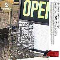 バーチカルオープン/クローズスライダーサイン用レターセット202キャラクターズ RED