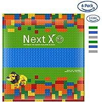 NextX ブロック クラシック 基礎板 互換性のある 大きいサイズ 3色6枚 両面ブロックプレート 32x32ポッチ