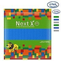 NextXブロッククラシック基礎板互換性のある大きいサイズ3色6枚 両面ブロックプレート 32x32ポッチ