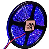 Smile Panda LEDテープライト 5m 防水 12V 青 ブルー 黒ベース 2835 600連 配線 20cm 0.5sq