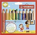 STABILO ウッディセット [woody] 10色セット 880-10