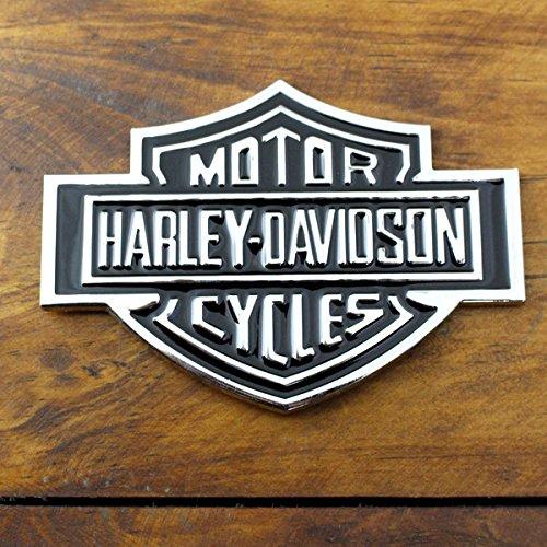 3Dステッカー ハーレーダビッドソン B&S ロゴクローム /HARLEY-DAVIDSON/