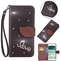 Moonmini Xiaomi Redmi 6A Wallet Multi Card Holder 携帯電話ケース 贅沢 Folio PU Leather Cover With 贅沢 Case For Xiaomi Redmi 6A - Black