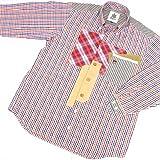 8739 【春夏秋冬】 ボタンダウンシャツ 長袖 オープンシャツ サイズ大きめ PAGELO パジェロ レッド(赤)アソート サイズM【紳士服/メンズ/男性用】