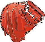 ZETT(ゼット) 野球 軟式 キャッチャーミット プロステイタス 右投用 ディープオレンジ/ブラック(5819) BRCB30712