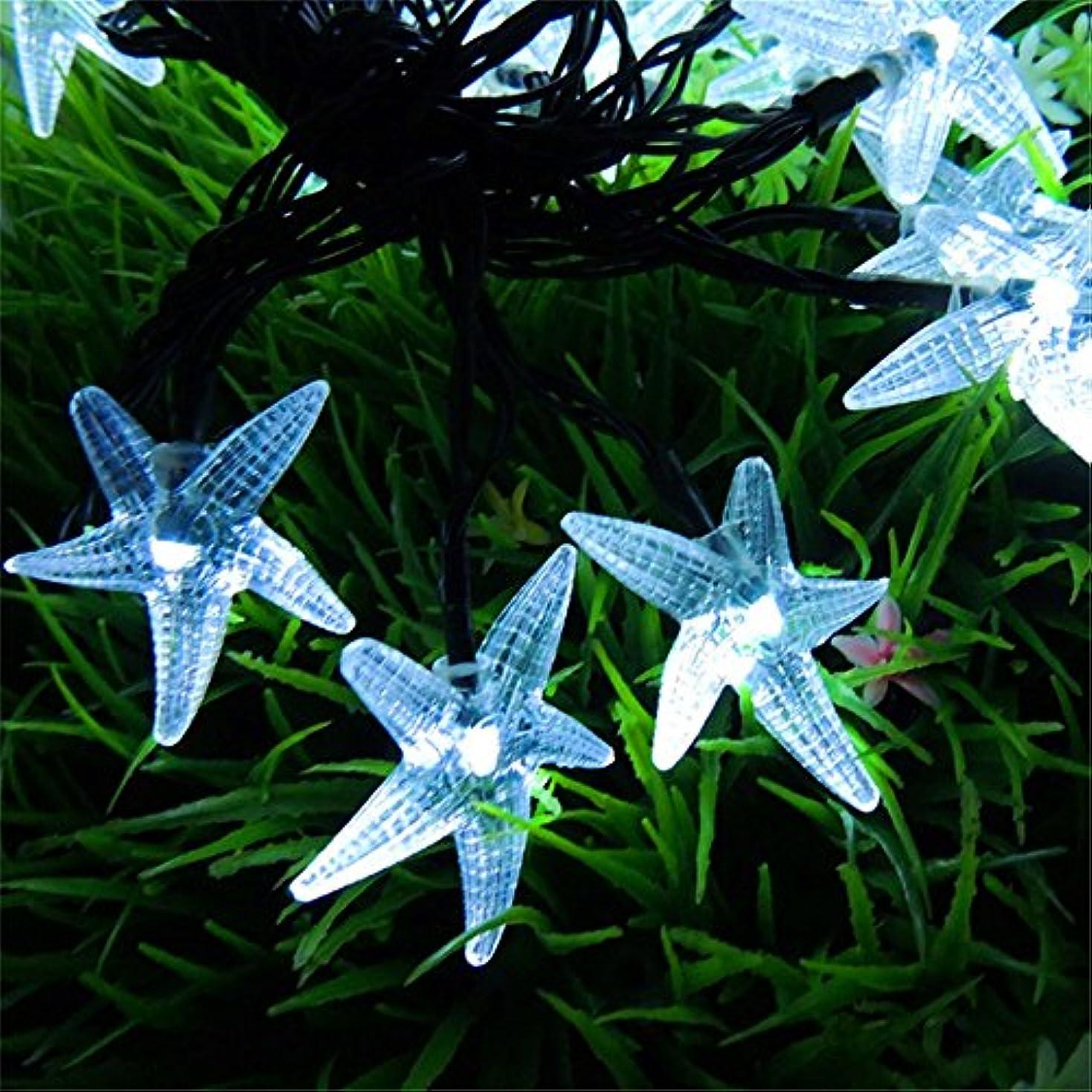 動作正午起訴するソーラーストリングライト、SIMPLE DO LEDライト イルミネーション クリスマス パーティー 防水 省エネ 環境に優しい 使いやすい カラフル(ホワイト)