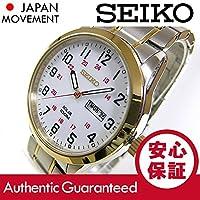 【デッドストック/アウトレット品】SEIKO (セイコー) SNE370 SOLAR/ソーラー ゴールド×シルバー ツートーン メタルベルト メンズウォッチ 腕時計[並行輸入品]