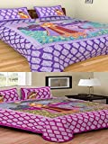 Multi Color 100% Pure Cotton Full Size 2 Double Bed Sheet Set With 4 Pillow Cover Elegant Design For