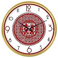 Lts ウォールクロックnティック番号クォーツウォールクロックリビングルーム装飾ドアクロックベッドルームクロックキッチンクロックサイレントテーブルクォーツ時計 (Color : Gold - 210, サイズ : 14 In.)