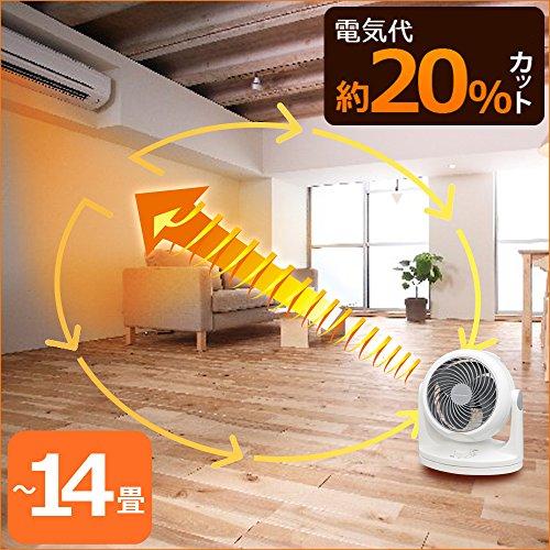 アイリスオーヤマ サーキュレーター 静音 首振り ~14畳 ホワイト PCF-HD18-W
