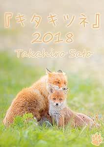 『キタキツネ』カレンダー2018 (壁掛けサイズA3)