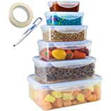 TigerChef Food Storage Container Set with Airtight Leak Proof Snap Lock Lids - BPA Free, Microwave, Freezer and Dishwasher Sa