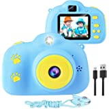 Kids Camera, 1080p Selfie Digital Kids Camera for Boys with 32GB SD Card Rechargeable Battery Children Video Camera Birthday/
