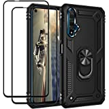 EasyLifeGo for Huawei Nova 5T / Hornor 20 Case with Screen Protector Tempered Glass [2 Pieces], Hybrid Heavy Duty Armor Dual