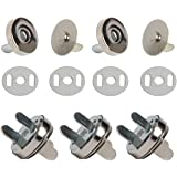 SBYURE 40 Sets Magnetic Button Clasps Snaps 18 mm Fastener Clasp Button Knitting Buttons Sets for Sewing, Craft, Purses, Bags