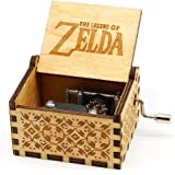 Pursuestar Wood Hand Crank Engraved Vintage Wooden Music Box Wedding Valentine Christmas Birthday Legend of Zelda