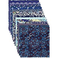 【Amazon.co.jp 限定】和紙かわ澄 千代紙 友禅和紙 15×15cm 15柄・15枚入 青色系