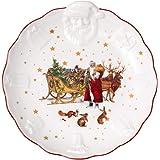 Villeroy & Boch Toys Fantasy Bowl with Santa Relief Nostalgia, Premium Porcelain, White, 24 x 25 x 4,6 cm