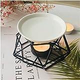 SXCHEN Delicate Romantic Ceramic Tealight Candle Holder Oil Burner, Essential Oil Incense Aroma Diffuser Furnace Home Decorat