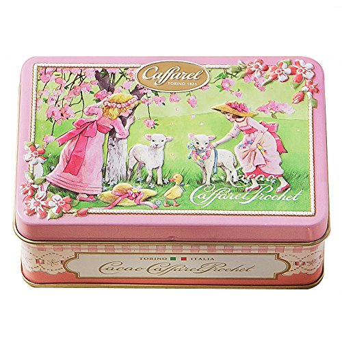 カファレル Caffarel リバイバル小缶 ピンク チョコレート 袋付き