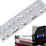 1Set 3D Head Cover Hood Front Letters Emblem Sports Line Badge Letter Emblem for Range Rover L-a-n-d R-o-v-e-r car Stickers D