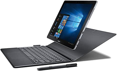"Samsung 2018 Galaxy Book 12"" FHD+ 2-in-1 Touchscreen Tablet Laptop Computer, Intel Core i5-7200U up to 3.10GHz, 8GB RAM, 256GB SSD, AC WIFI, Bluetooth 4.1, USB Type-C, Detachable KB, Windows 10 Pro"
