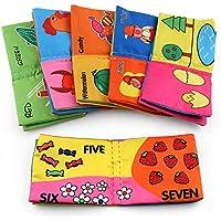 Ouhekiei 布の絵本 子供用 知育絵本 知育おもちゃ 学習多機能 想像力 破れない 響紙 やわらか かわいい 出産祝いベビーギフトアニマルおでかけ布えほん 6冊組