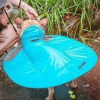 【Realpet】ペット用品 犬のマント 日焼け止/防水服 お出掛け用 ディスク形状デザイン PEVA レインコート 雨具 犬 猫 兼用 2色5サイズ選択可能 (ブルー S)