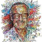 Faicai Art Stan Lee Portrait キャンバス絵画 カラフルなHDプリントポスター マーベル壁アート装飾 抽象画 寝室 リビングルーム オフィス用 24x24inch No Frame
