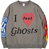 Lucky Me I See Ghosts Trendy Hip Hop Heavyweight Sweatshirts Letter Hoodie