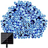 CVLIFE クリスマスイルミ&ソーラー充電式LEDイルミネーション&太陽発電(22m 200球)(ブルー)自動的にON/OFF