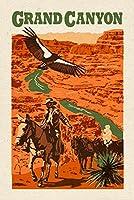 グランドキャニオン国立公園、アリゾナ州–Woodblock 16 x 24 Giclee Print LANT-77524-16x24