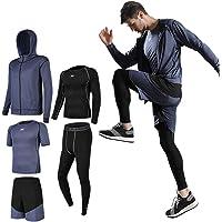 コンプレッションウェア セット メンズ トレーニングウェア 5点セット 通気防臭 スポーツウェア ランニングウェア パー…