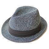 (エッジシティー)EdgeCity 折りたたみ可能! 大きいサイズ 大きい メンズ レディース 麦わら帽子 ストローハット 3S/52cm 000319-0011-52