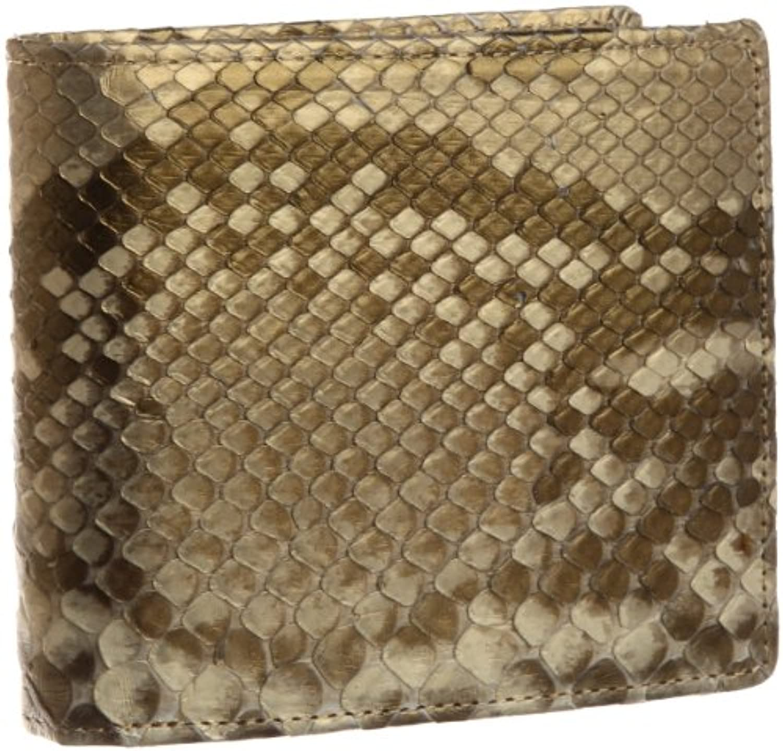 Tsand(ティサンド) Tsand国産 錦ヘビ柄残しゴールド二つ折り財布