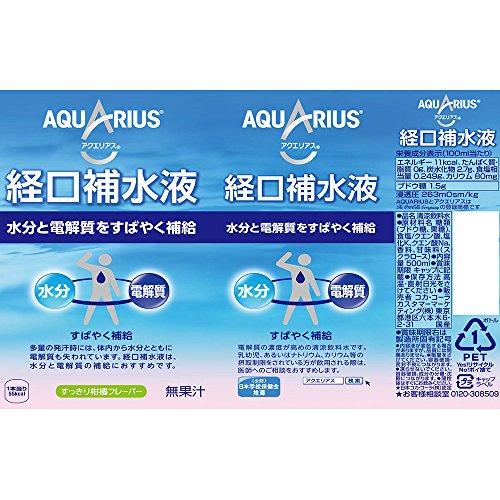 コカ・コーラアクエリアス経口補水液ペットボトル500ml×24本