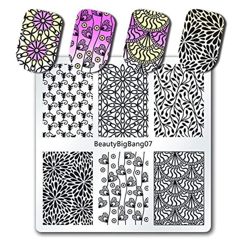 ホールドオール呼びかける洗剤BeautyBigBang スタンププレート ネイルイメージプレート ネイルステンシル ネイルプレート ネイルアートツール ネイルデザイン用品