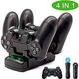 PS4/PS3/PS3 Move充電スタンド BRHE PS4/PS3 コントローラー PlayStation Move モーションコントローラー 最新版 充電ディスプレイスタンド 2台同時に充電可能 LED 指示ランプ付き USBケーブル付